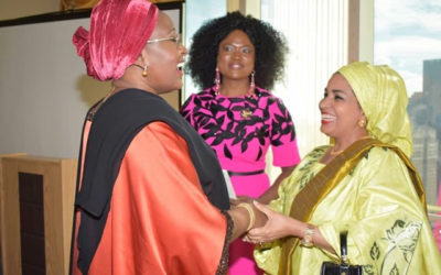 Nigeria First Lady Aisha Buhari Receives Award For Her Public Service And Human development In New York. Photo: Sunday Aghaeze