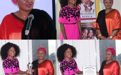 The wife of the President,Mrs. Aisha Buhari, has been conferred withDistinguished Global Awardfor Excellence inWomen Empowerment and Gender DevelopmentbyGlobal Empowerment Movement Corporation, U.S