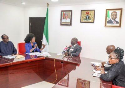 Fight against Human Trafficking: visit to Edo State, Nigeria Governor – Dr. Godwin Obaseki